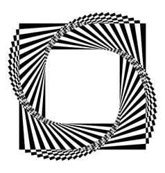 geometric black and white background vector image