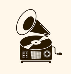 Gramophone vinyl record with label music vector