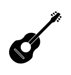 Guitar traditional acoustic music pictogram vector