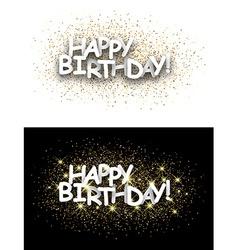 Happy birthday paper card vector