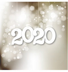 happy new year 2020 eps10 vector image