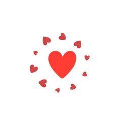 heart shape design for love symbols vector image