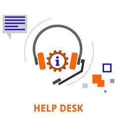 Help desk vector