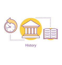 History concept icon vector