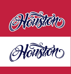 Houston lettering in tattoo style vector