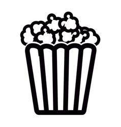 Isolated cinema popcorn vector