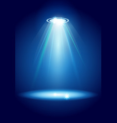 Magic spotlights with blue rays and glowing effect vector