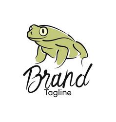 modern frog logo vector image