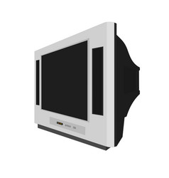 modern lcd television icon isolated vector image