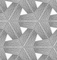 Monochrome rough striped tetrapods vector image