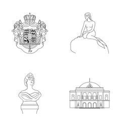 national symbol drawing and other web icon in vector image