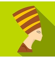 Nefertiti head icon flat style vector
