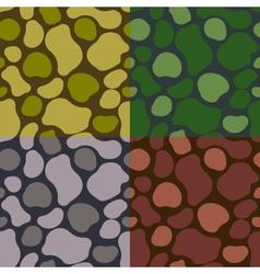 Pattern khaki set vector