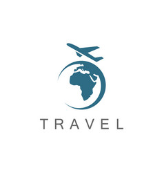plane travel logo vector image