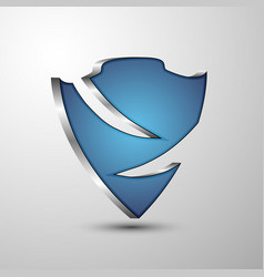 protection 3d shield emblem for you project vector image