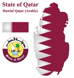 Qatari Flag vector