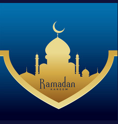 ramadan kareem stylish premium greeting design vector image