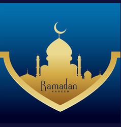Ramadan kareem stylish premium greeting design vector