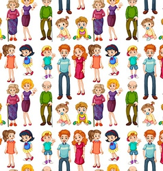 Seamless family vector image