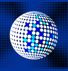 Set abstract halftone 3d spheres 31 vector