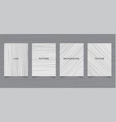 set brochure template hand drawn black lines vector image