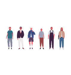 Set modern male person different ages vector
