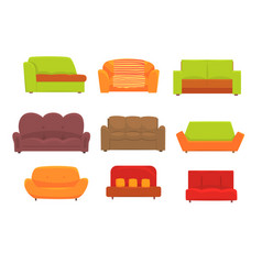 sofas furniture for living room comfortable vector image