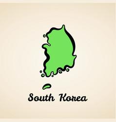 south korea - outline map vector image
