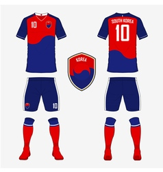 South Korea soccer kit football jersey template vector