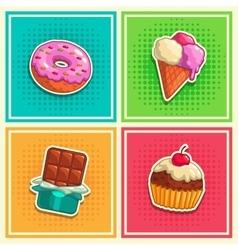 Sweet stickers 1 vector