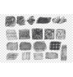 types pen hatching set vector image