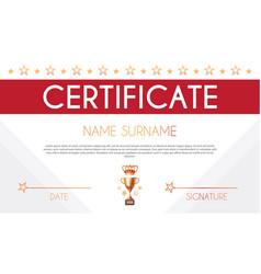 Win certificate design template diploma design vector