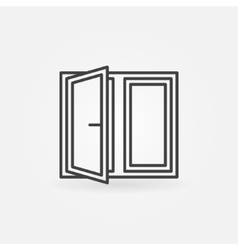 Window minimal icon vector