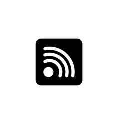 wireless internet wifi social rss flat vector image