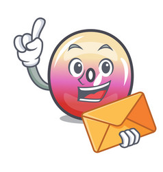 with envelope jelly ring candy character cartoon vector image