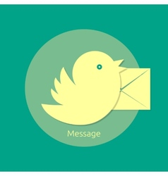Bird letter message vector image vector image