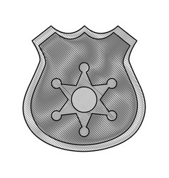 gray color blurred stripe of police badge with vector image