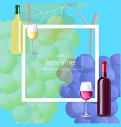 let s taste vine postcard vector image vector image