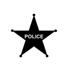 Police star icon vector image