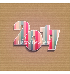 striped figures numbers 2017 vector image