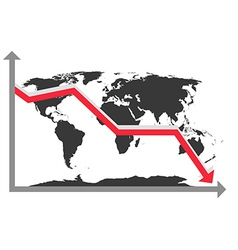 World Map Chart vector image vector image