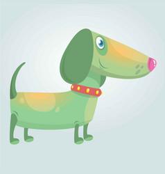 cartoon cute purebred dachshund dog vector image vector image