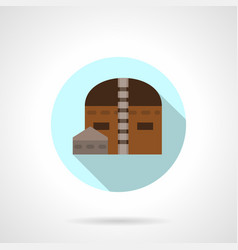 industrial warehouse flat blue round icon vector image