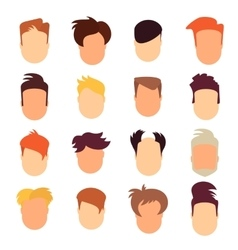 set of hairstyle man vector image vector image