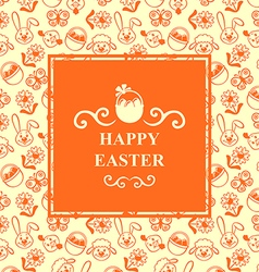 Easter muzzle square orange vector