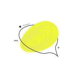 grunge doodle sketch 90s colored frame vector image vector image