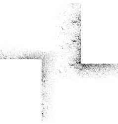 Ink blots square set vector image
