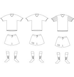 soccer player uniform vector image