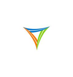 triangle shape circle logo vector image vector image