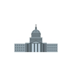 United States Capitol icon flat style vector image